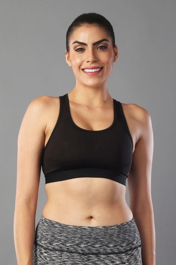 Spotter Hot lift and support women sports Bra- Black