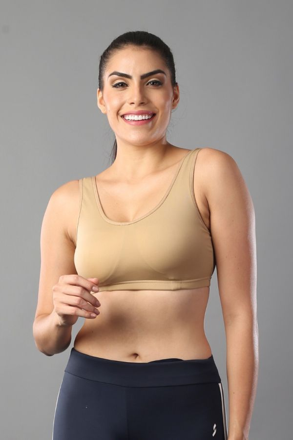 Spotter Hot lift and support women sports Bra- Nude