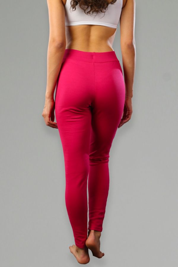 Women's Slim-Fit with Pocket Fitness Bottoms - Fuchsia