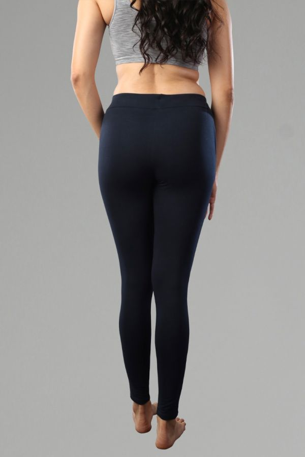 Women's Slim-Fit with Pocket Fitness Bottoms - Navy
