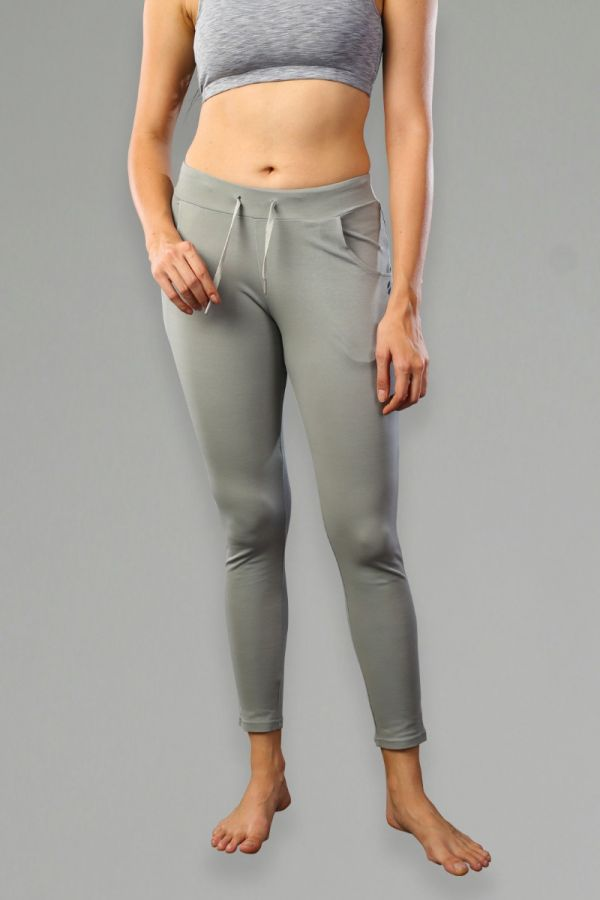 Women's Slim-Fit with Pocket Fitness Bottoms - Grey