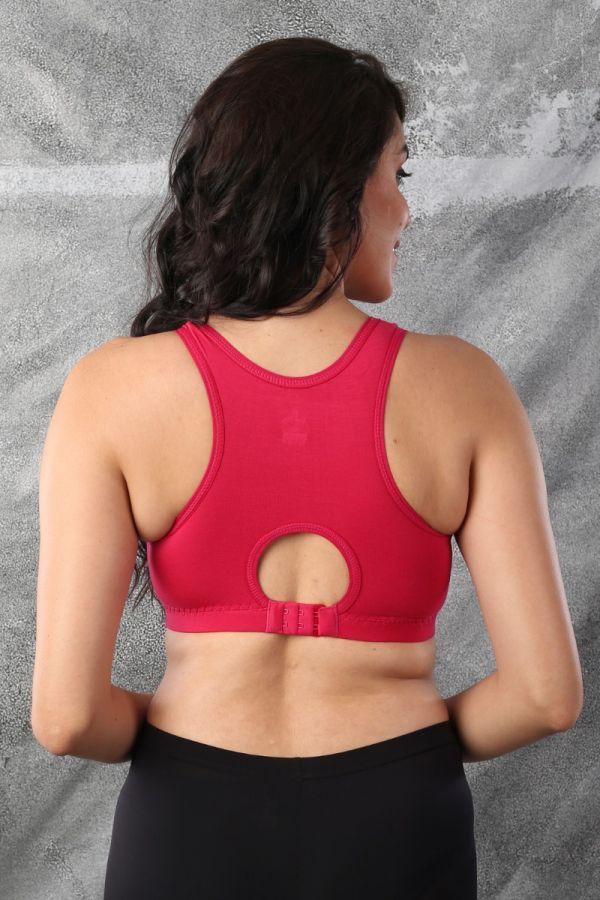 Full Coverage Yoga Bra Fuchsia