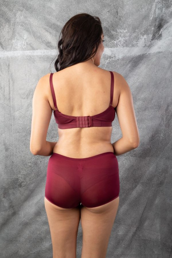 Two Pcs Shorty Panty  Night Maroon