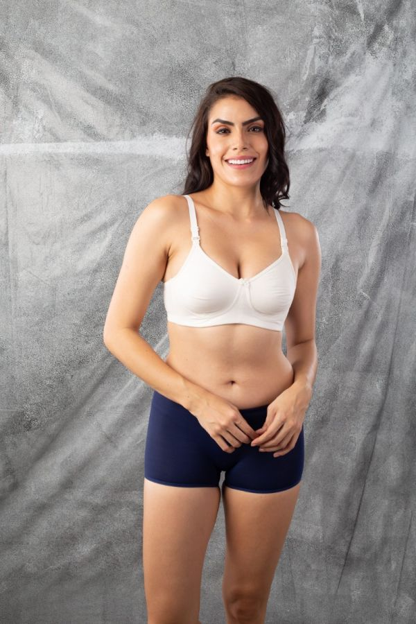 Women's Boys short Panties 2 pack- White