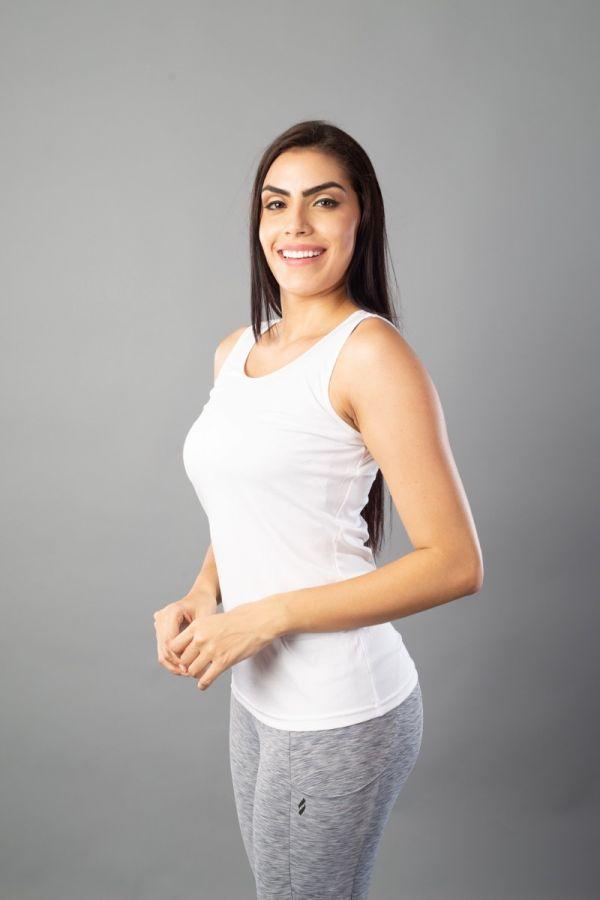 Sleeveless Dry-fit tank tops White