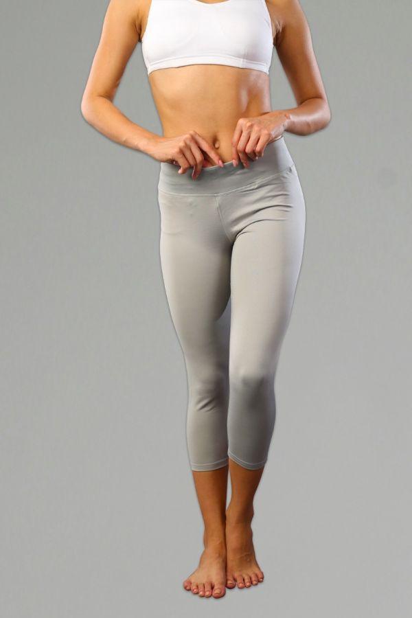 Cotton Lifestyle Capris for Women- Charcoal Grey
