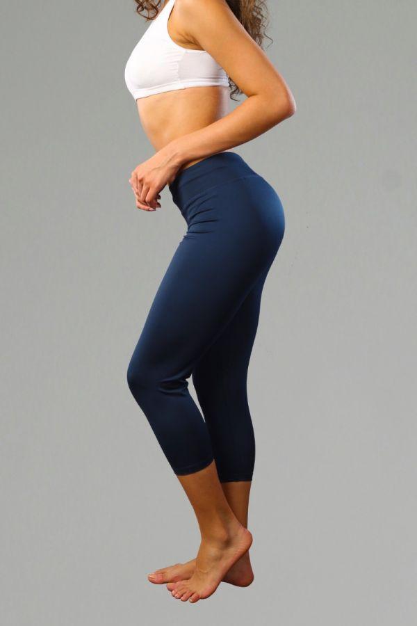 Cotton Lifestyle Capris for Women- Navy Blue