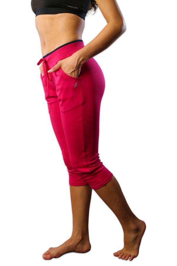 Women's cotton stretch capris Fuschia