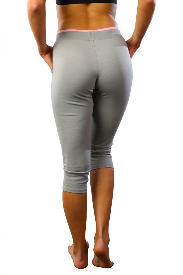 Women's cotton stretch capris Grey