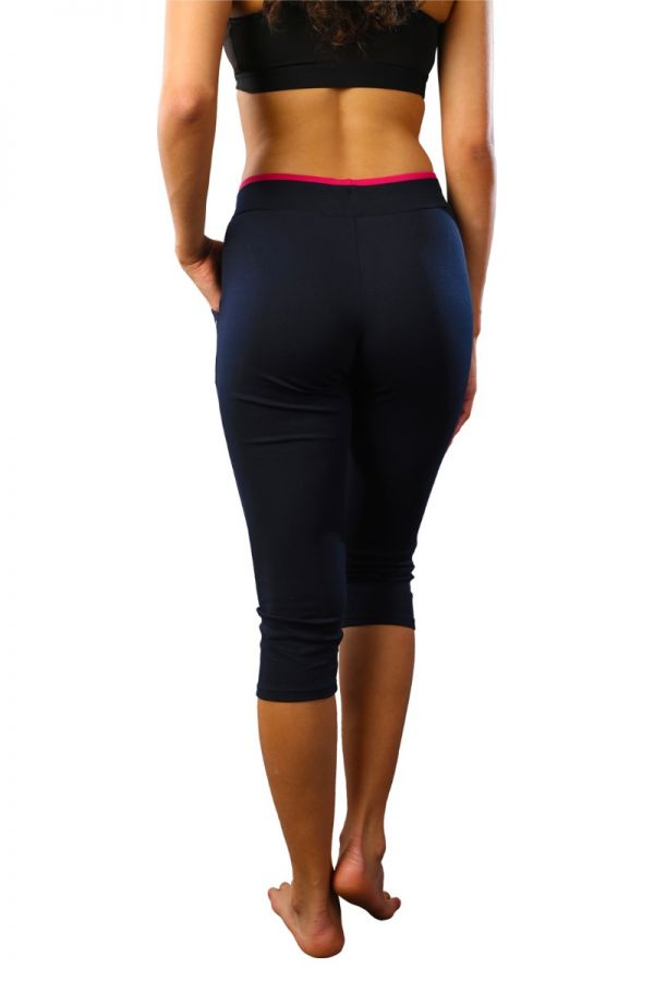 Women's cotton stretch capris navy blue