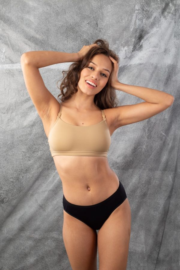 Non Wired Beginners Bra Nude