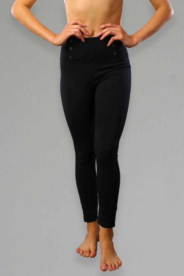 High-Waisted Slim Boot-Cut Yoga Pants-Black